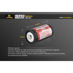 Batería 18350 Xtar