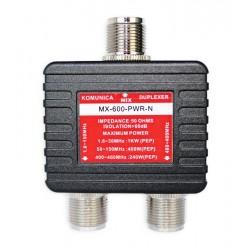 Duplexor Komunica de 1.6-150/400-460MHz tipo N sin cables